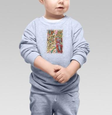 Девушка в неведомом городе - Купить детские свитшоты абстрактные в Москве, цена детских свитшотов абстрактных  с прикольными принтами - магазин дизайнерской одежды MaryJane