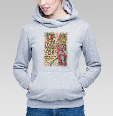 Девушка в неведомом городе - Купить детские толстовки абстрактные в Москве, цена детских толстовок абстрактных  с прикольными принтами - магазин дизайнерской одежды MaryJane