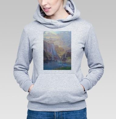 Замок в горах - Купить детские толстовки с живописью в Москве, цена детских толстовок с живописью  с прикольными принтами - магазин дизайнерской одежды MaryJane