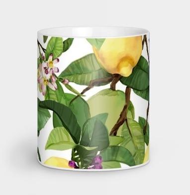 Акварельные лимоны - Кружки с логотипом