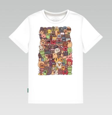 Третий векторный дудл, Детская футболка белая 160гр
