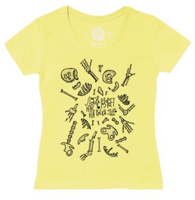 Футболка женская желтая - Любовь  разорвет нас на куски