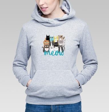 Многокотов - Купить детские толстовки с кошками в Москве, цена детских толстовок с кошками  с прикольными принтами - магазин дизайнерской одежды MaryJane