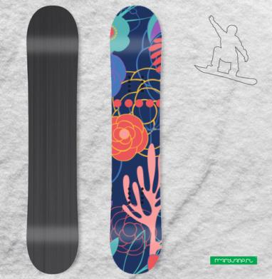 Полуночный сад - Наклейки на доски - сноуборд, скейтборд, лыжи, кайтсерфинг, вэйк, серф