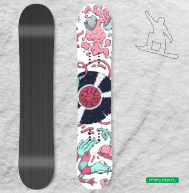 Безумие - Наклейки на доски - сноуборд, скейтборд, лыжи, кайтсерфинг, вэйк, серф