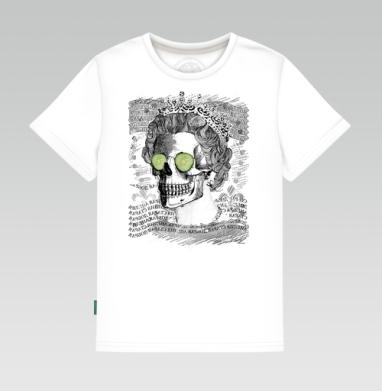 Череп в короне, Детская футболка белая 160гр