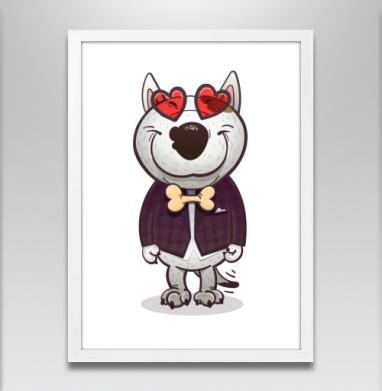 Влюблённый буль - Постеры, собаки, Популярные