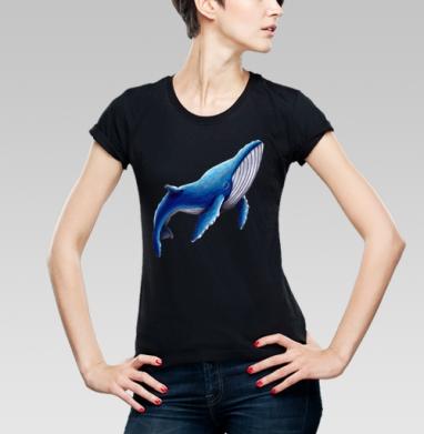 Синий кит, Футболка женская чёрная