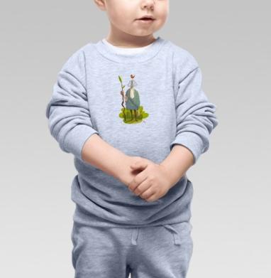 Леший с птицей - Купить детские свитшоты с природой в Москве, цена детских свитшотов с природой  с прикольными принтами - магазин дизайнерской одежды MaryJane