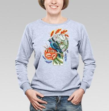 Бирюзовая котинга - Купить детские свитшоты с птицами в Москве, цена детских свитшотов с птицами  с прикольными принтами - магазин дизайнерской одежды MaryJane