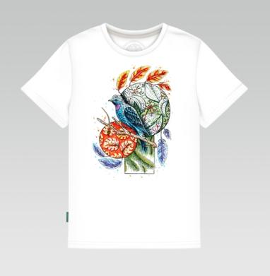 Бирюзовая котинга, Детская футболка белая 160гр