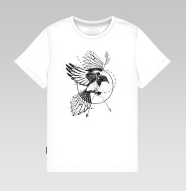 Сорока, Детская футболка белая 160гр