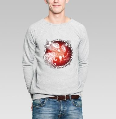 Петух-птица - Купить мужские свитшоты с узорами в Москве, цена мужских свитшотов с узорами  с прикольными принтами - магазин дизайнерской одежды MaryJane