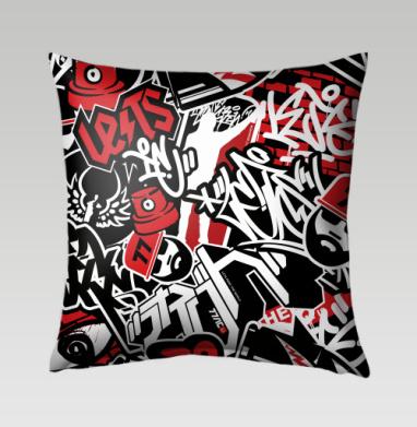 Чёрное красное белое - Подушки с принтом