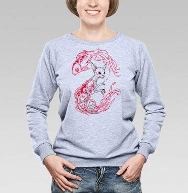 Кот и рыбки - Купить детские свитшоты с индейцами в Москве, цена детских свитшотов с индейцами  с прикольными принтами - магазин дизайнерской одежды MaryJane