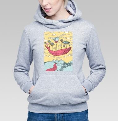 Парящий кит - Купить детские толстовки со сказками в Москве, цена детских толстовок со сказками  с прикольными принтами - магазин дизайнерской одежды MaryJane