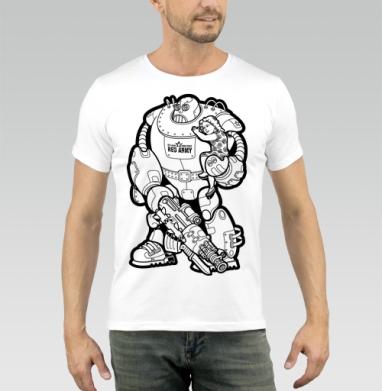 На страже границ! - Купить мужские футболки с роботами в Москве, цена мужских футболок с роботами с прикольными принтами - магазин дизайнерской одежды MaryJane