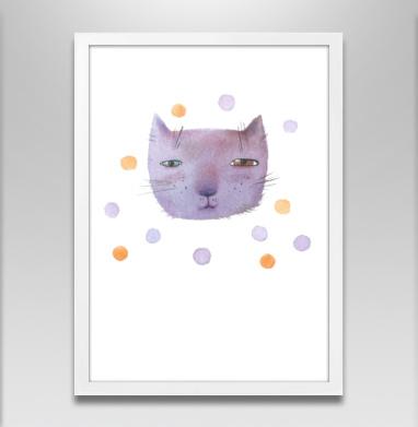 Котик и шары - Постеры, кошка, Популярные