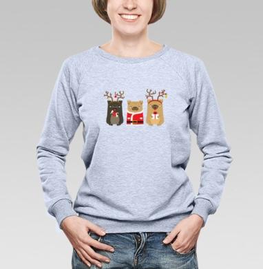 Новогодние радости - Купить детские свитшоты с собаками в Москве, цена детских свитшотов с собаками  с прикольными принтами - магазин дизайнерской одежды MaryJane