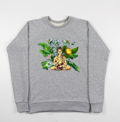 Будда в абхазской флоре  - Купить детские свитшоты с йогой в Москве, цена детских свитшотов с йогой  с прикольными принтами - магазин дизайнерской одежды MaryJane