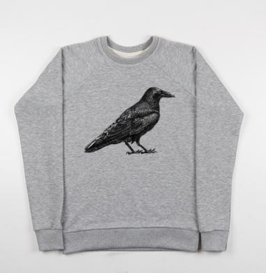 Чёрный ворон - Купить детские свитшоты с птицами в Москве, цена детских свитшотов с птицами  с прикольными принтами - магазин дизайнерской одежды MaryJane
