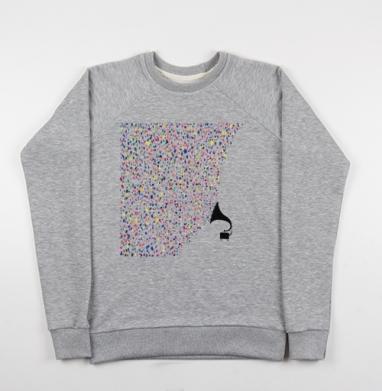 Цвета музыки - Купить детские свитшоты музыка в Москве, цена детских свитшотов музыкальных  с прикольными принтами - магазин дизайнерской одежды MaryJane