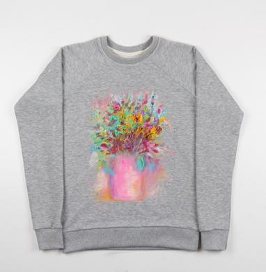 Цветы маслом - Купить детские свитшоты с живописью в Москве, цена детских свитшотов с живописью  с прикольными принтами - магазин дизайнерской одежды MaryJane