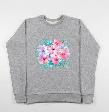 Цветы весны - Купить детские свитшоты красивые в Москве, цена детских свитшотов красивых  с прикольными принтами - магазин дизайнерской одежды MaryJane