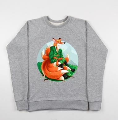 Девятихвостая лиса кумихо - Купить детские свитшоты с горами в Москве, цена детских свитшотов с горами с прикольными принтами - магазин дизайнерской одежды MaryJane