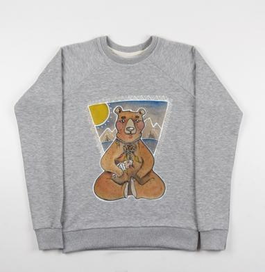 Мишка на севере - Купить детские свитшоты с горами в Москве, цена детских свитшотов с горами с прикольными принтами - магазин дизайнерской одежды MaryJane
