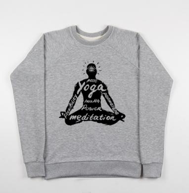 Падмасана - Купить детские свитшоты с йогой в Москве, цена детских свитшотов с йогой  с прикольными принтами - магазин дизайнерской одежды MaryJane