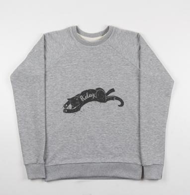 Релакс котик - Купить детские свитшоты милые в Москве, цена детских свитшотов милых  с прикольными принтами - магазин дизайнерской одежды MaryJane