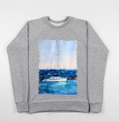 Тихая гавань - Купить детские свитшоты морские  в Москве, цена детских свитшотов морских   с прикольными принтами - магазин дизайнерской одежды MaryJane
