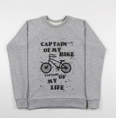 капитан ... - Купить детские свитшоты с велосипедом в Москве, цена детских свитшотов с велосипедом с прикольными принтами - магазин дизайнерской одежды MaryJane