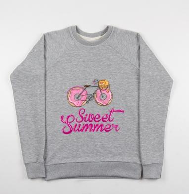 Ах, лето - Купить детские свитшоты с велосипедом в Москве, цена детских свитшотов с велосипедом с прикольными принтами - магазин дизайнерской одежды MaryJane