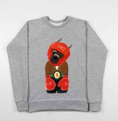 Боксёр - Купить детские свитшоты с символами в Москве, цена детских свитшотов с символом с прикольными принтами - магазин дизайнерской одежды MaryJane