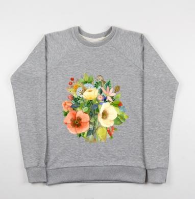 Букет Цветов - Купить детские свитшоты с солнцем в Москве, цена детских свитшотов с солнцем с прикольными принтами - магазин дизайнерской одежды MaryJane
