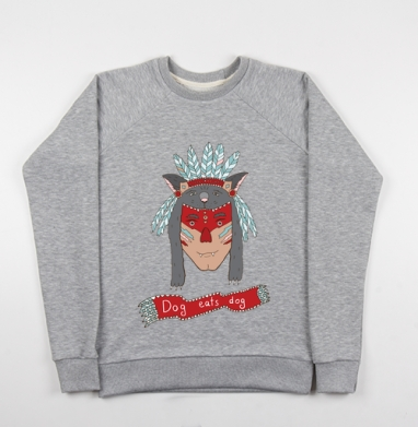 Человек человеку волк - Купить детские свитшоты с людьми в Москве, цена детских свитшотов с людьми  с прикольными принтами - магазин дизайнерской одежды MaryJane
