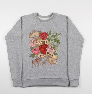 Дама сердца - Купить детские свитшоты с роами в Москве, цена детских свитшотов с розой с прикольными принтами - магазин дизайнерской одежды MaryJane