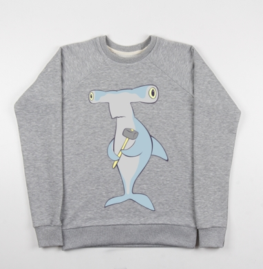 Hammerhead - Купить детские свитшоты морские  в Москве, цена детских свитшотов морских   с прикольными принтами - магазин дизайнерской одежды MaryJane