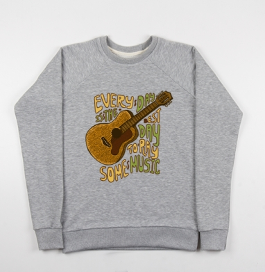 Каждый день - музыке - Купить детские свитшоты музыка в Москве, цена детских свитшотов музыкальных  с прикольными принтами - магазин дизайнерской одежды MaryJane