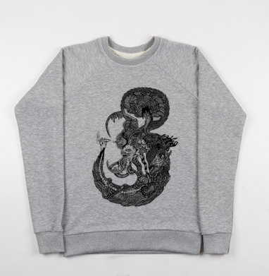 Морской Мыслитель - Купить детские свитшоты с черепом в Москве, цена детских свитшотов с черепом  с прикольными принтами - магазин дизайнерской одежды MaryJane