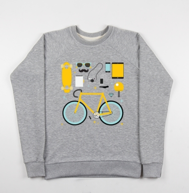 НАБОР ХИПСТЕРА - Купить детские свитшоты с велосипедом в Москве, цена детских свитшотов с велосипедом с прикольными принтами - магазин дизайнерской одежды MaryJane