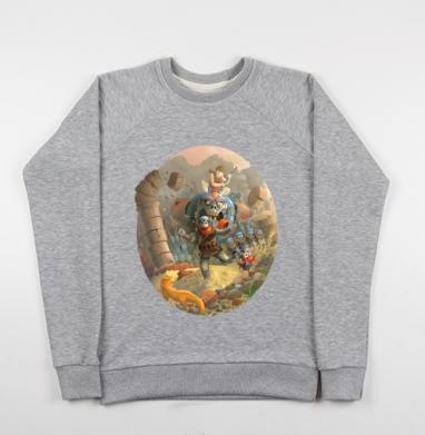 Погоня  - Купить детские свитшоты с роботами в Москве, цена детских свитшотов с роботами с прикольными принтами - магазин дизайнерской одежды MaryJane
