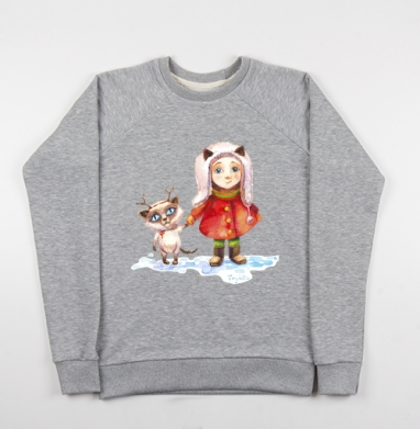 Пойдем гулять! - Купить детские свитшоты с живописью в Москве, цена детских свитшотов с живописью  с прикольными принтами - магазин дизайнерской одежды MaryJane