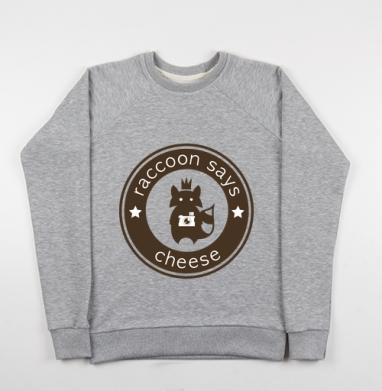 Raccoon says cheese - Купить детские свитшоты модные в Москве, цена детских свитшотов модных  с прикольными принтами - магазин дизайнерской одежды MaryJane