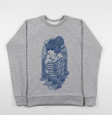 Sea wolf - Купить детские свитшоты с волками в Москве, цена детских свитшотов с волками  с прикольными принтами - магазин дизайнерской одежды MaryJane