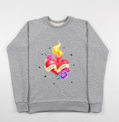 Тру лав - Купить детские свитшоты с роами в Москве, цена детских свитшотов с розой с прикольными принтами - магазин дизайнерской одежды MaryJane