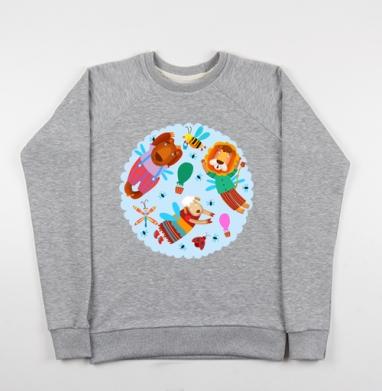 Воздушные звери - Купить детские свитшоты с насекомыми в Москве, цена детских свитшотов с насекомыми  с прикольными принтами - магазин дизайнерской одежды MaryJane