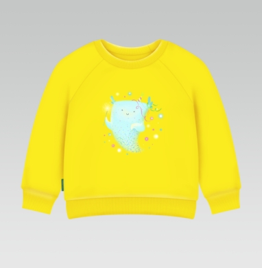 Дух праздника, Cвитшот Детский желтый 240гр, тонкая